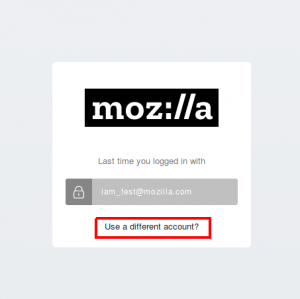 Mozillians - use a different account.png