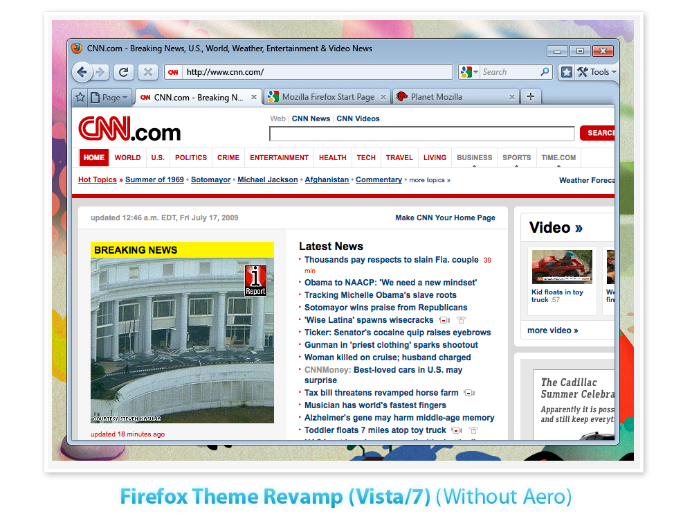 Firefox 3.7 theme in Windows Vista/7