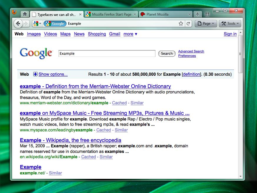 'Chrome' opcija v Firefox 4.0