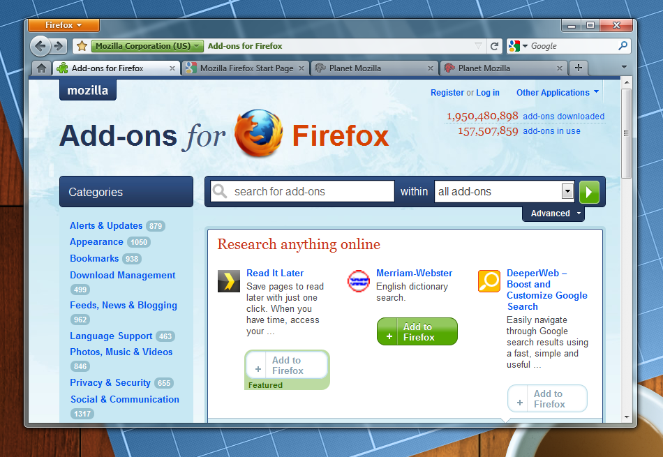 Firefox для windows 7