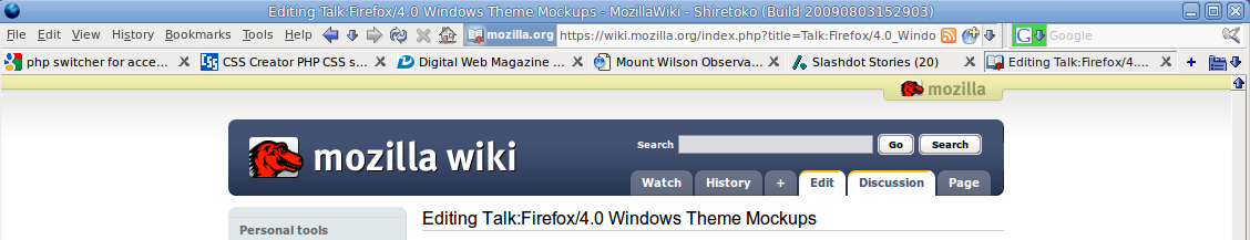 Talk:Firefox/4 0 Windows Theme Mockups - MozillaWiki