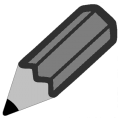 Pencil-emoji U270F-gray.png