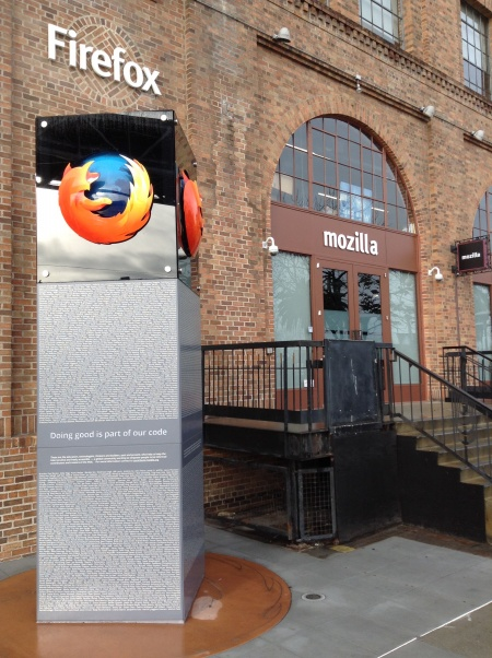 Front of Mozilla SF offices with Firefox tower