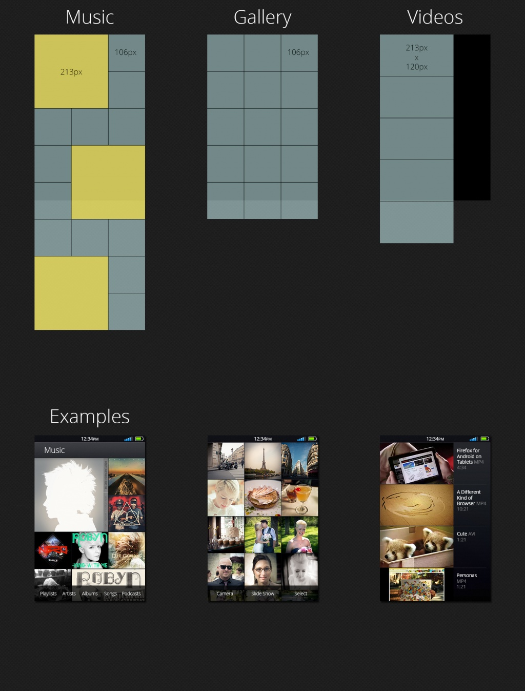 Media grid layout